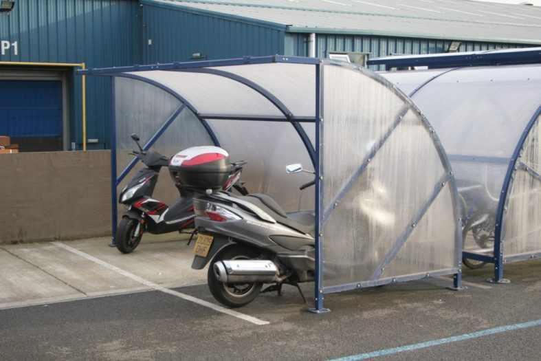 Circonomy scooter shelter