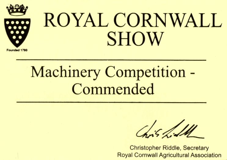 Royal Cornwall Show Machinery