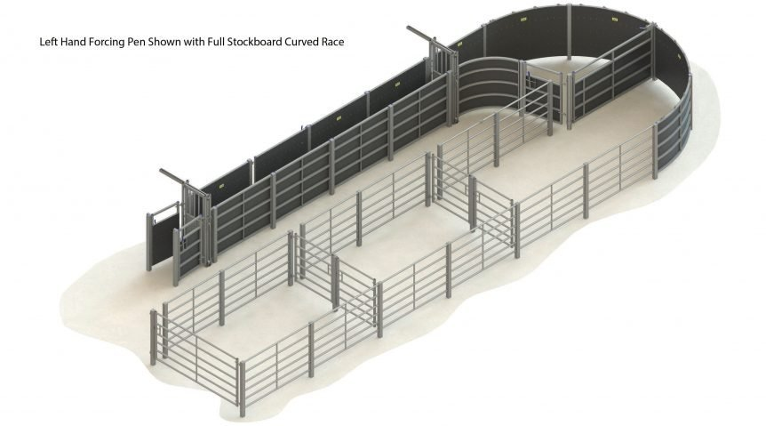 H000 0000 63 – 001 – cattle handling system LH straight race full stockboard without crush