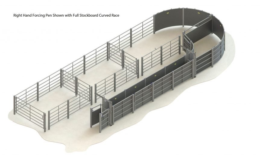 H000 0000 63 – 003 – cattle handling system RH straight race full stockboard without crush