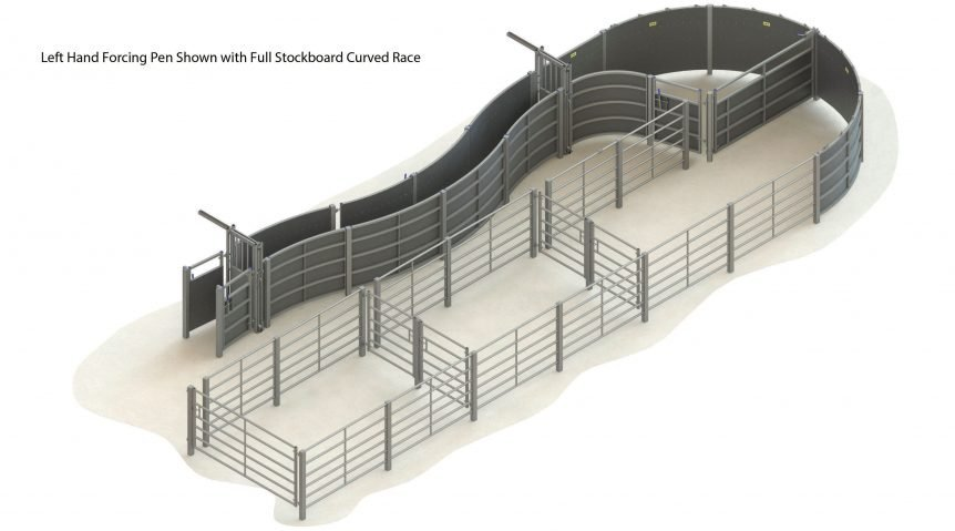 H000 0000 63 – 007 – cattle handling system LH curved race full stockboard without crush